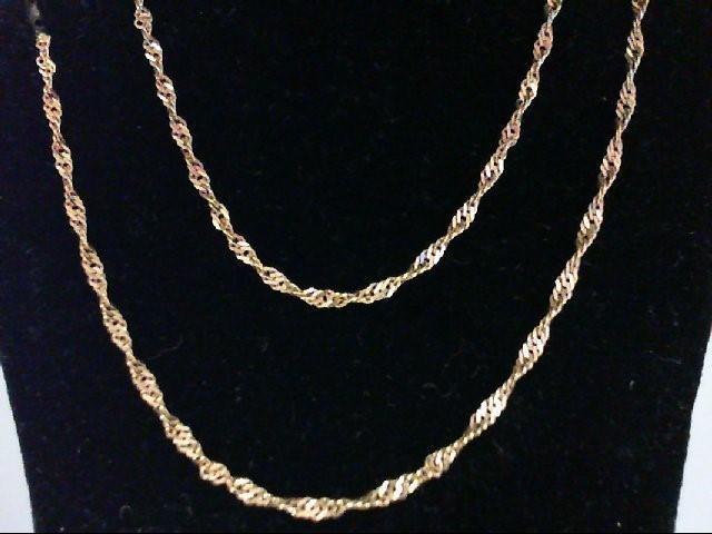 "18"" Gold Chain 14K Yellow Gold 1.8g"