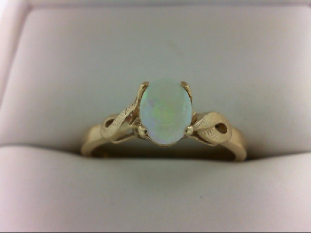 Opal Lady's Stone Ring 10K Yellow Gold 2.5g