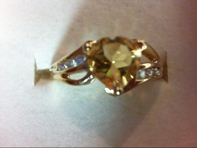 Lady's Gold Ring 10K Yellow Gold 1.8g Size:6.75