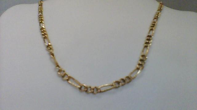 Gold Figaro Chain 10K Yellow Gold 8.1g