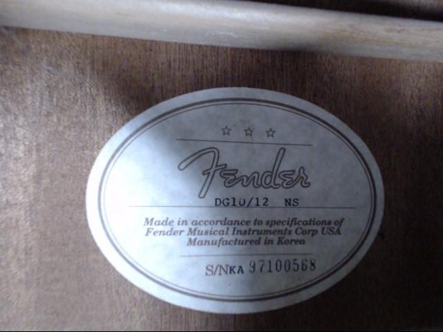 FENDER DG-10-12 DREADNOUGHT 12-STRING