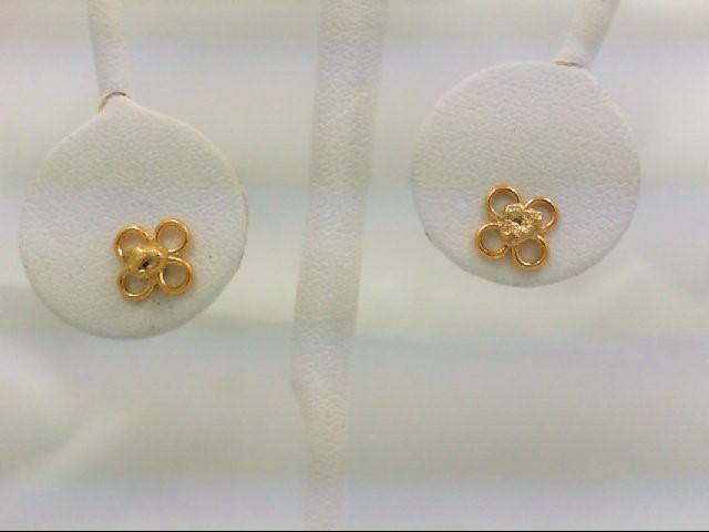 Gold Earrings 24K Yellow Gold 1.4g