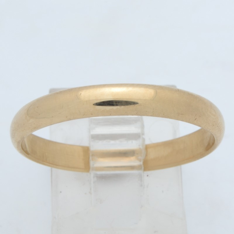 ESTATE WEDDING RING BAND SOLID 14K GOLD PLAIN UNISEX LARGE SIZE 12