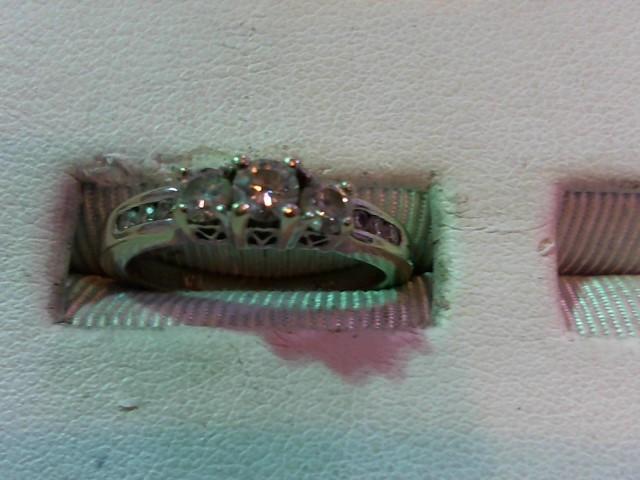 Lady's Diamond Fashion Ring 9 Diamonds .47 Carat T.W. 14K White Gold 3.3g