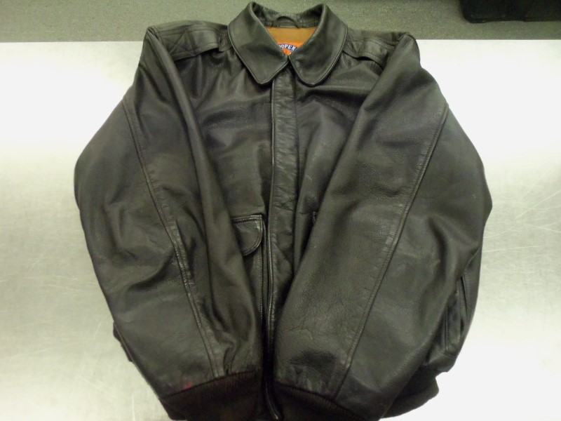 COOPER DEFENSE A2 BOMBER JACKET BROWN LEATHER