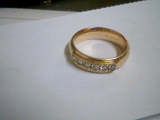 Gent's Gold-Diamond Wedding Band 6 Diamonds .36 Carat T.W. 14K Yellow Gold