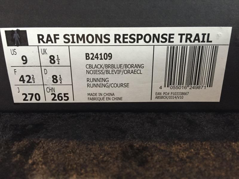 ADIDAS RAF SIMONS RESPONSE TRAIL