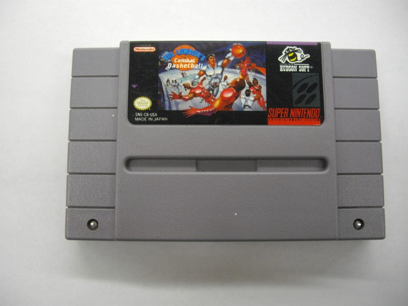 NINTENDO SNES Game BILL LAIMBEER'S COMBAT BASKETBALL *CARTRIDGE ONLY*
