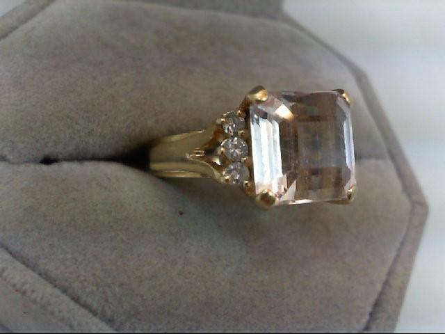 Lady's Diamond Fashion Ring 6 Diamonds .30 Carat T.W. 14K Yellow Gold 7g