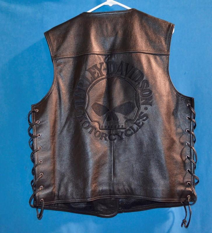 HARLEY DAVIDSON Coat/Jacket MENS LEATHER VEST