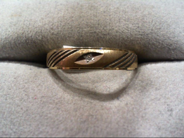 Lady's Diamond Wedding Band .01 CT. 14K Yellow Gold 1.7g