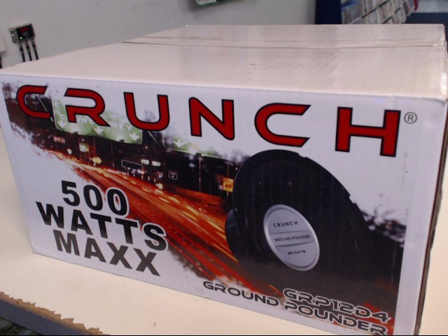 CRUNCH AUDIO Car Speakers/Speaker System GRP12D4 GROUND POUNDER