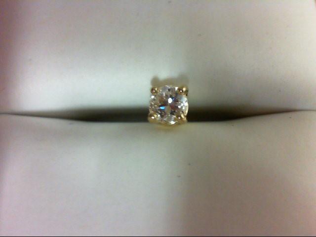 Gold-Diamond Earrings 0.35 CT. 14K Yellow Gold 0.6g