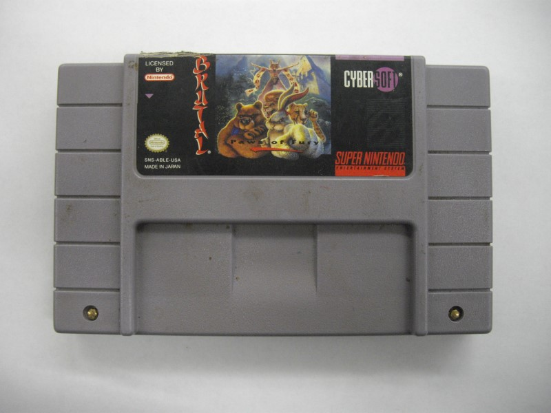 NINTENDO SNES Game BRUTAL PAWS OF FURY *CARTRIDGE ONLY*