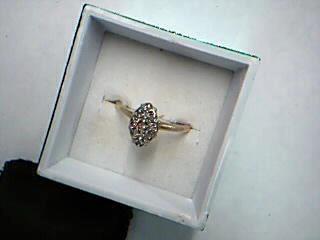 Lady's Diamond Fashion Ring 9 Diamonds .27 Carat T.W. 10K Yellow Gold 2g