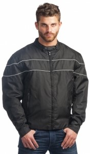 TEXTILE JACKET WITH REFLECTIVE PIPING SIZE 2XL