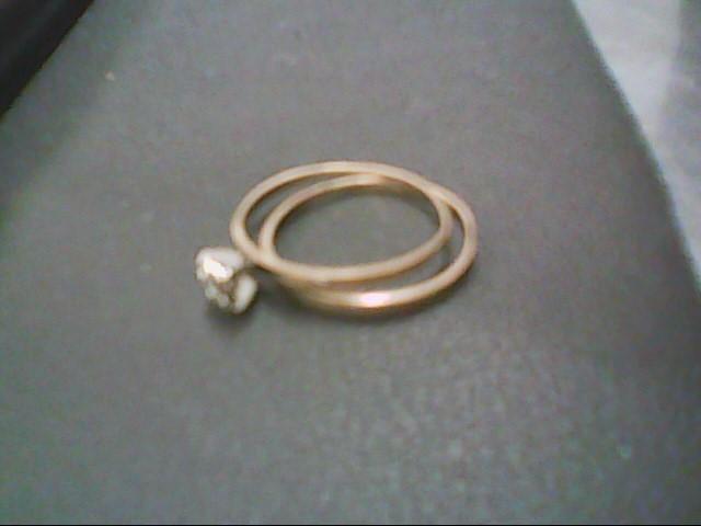 Lady's Diamond Wedding Set .05 CT. 10K Yellow Gold 1.4g Size:7