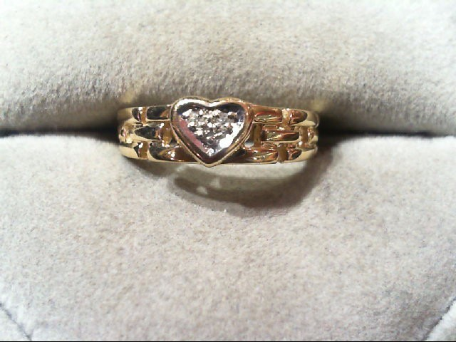 Lady's Gold Ring 10K Yellow Gold 1.9g