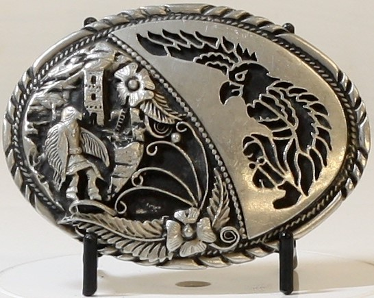 EAGLE BELT BUCKLE, SSI HANDCRAFTED USA, MADE OF TIN