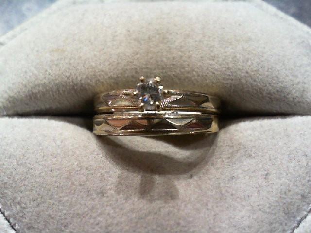 Lady's Diamond Wedding Set .16 CT. 14K 2 Tone Gold 4.4g