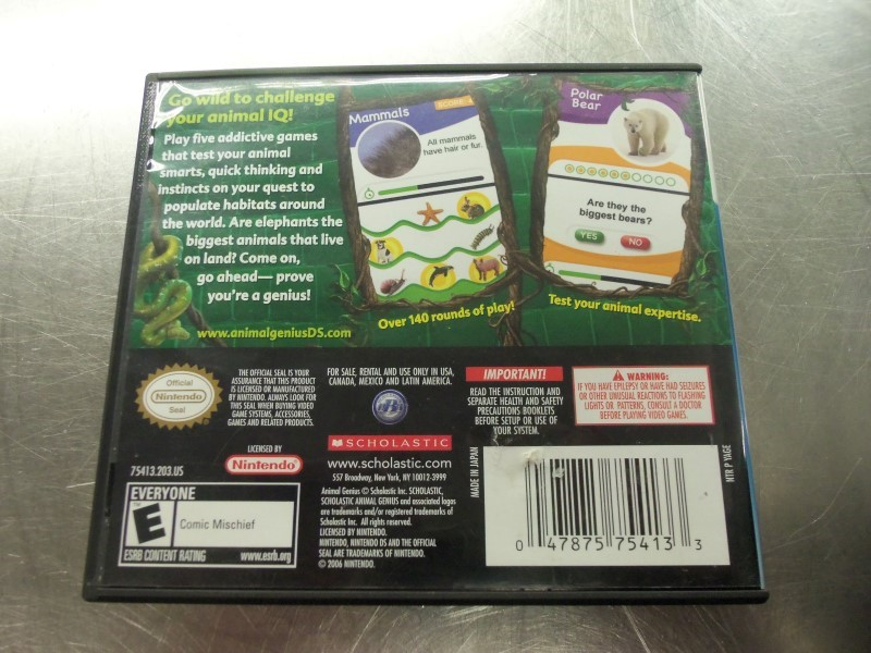 NINTENDO Nintendo DS ANIMAL GENIUS