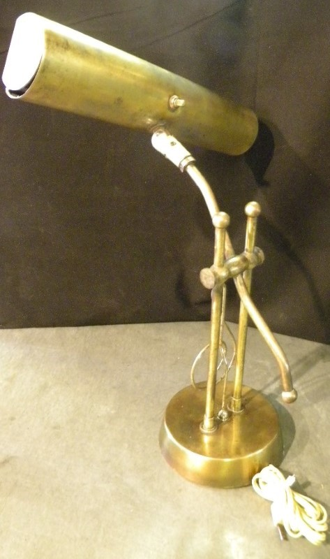 ANTIQUE STYLE BRASS COMPOSERS LAMP