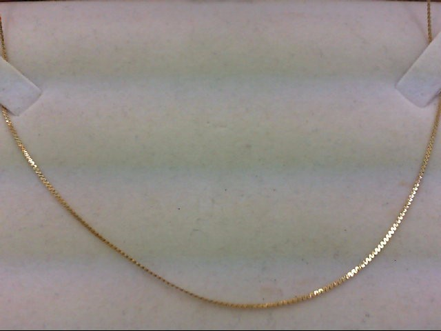 "16"" Gold Serpentine Chain 14K Yellow Gold 1.3g"