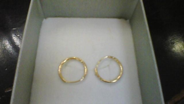 Gold Earrings 14K Yellow Gold 0.29g