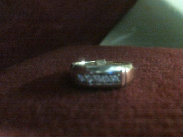 Gent's Gold-Diamond Wedding Band 5 Diamonds .20 Carat T.W. 14K Yellow Gold
