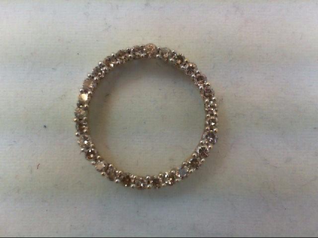 Gold-Multi-Diamond Pendant 28 Diamonds .56 Carat T.W. 10K Yellow Gold 1.6g