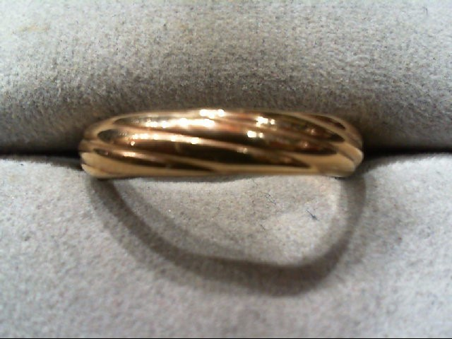 Lady's Gold Ring 18K Yellow Gold 1.7g