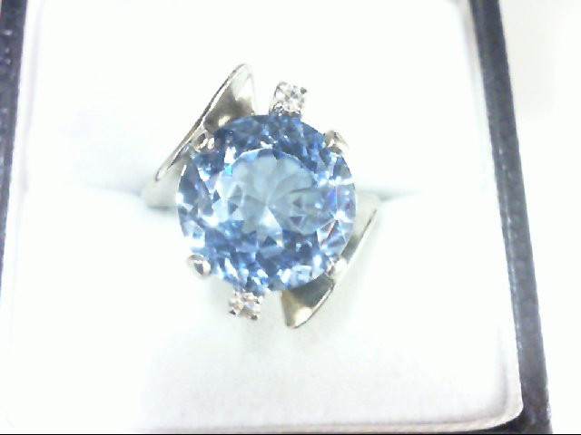 Blue Stone Lady's Stone Ring 10K Yellow Gold 5.2g