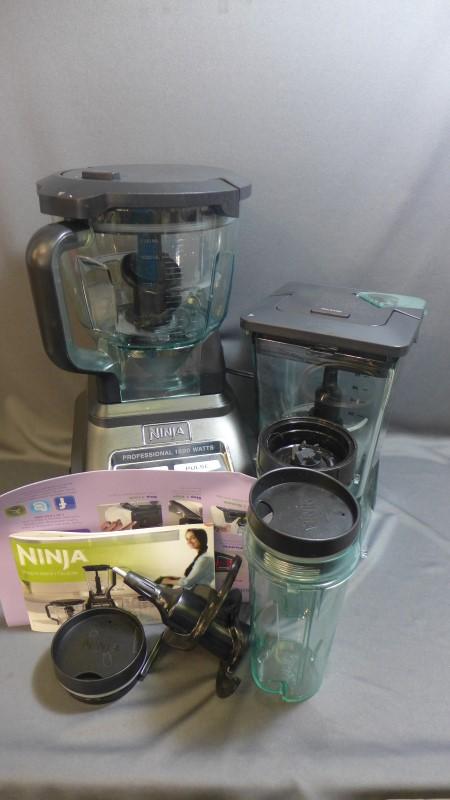 how to work a ninja blender 1500 watts