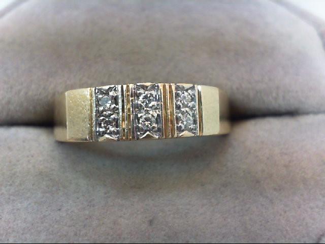 Lady's Diamond Wedding Band 6 Diamonds .12 Carat T.W. 14K Yellow Gold 5g