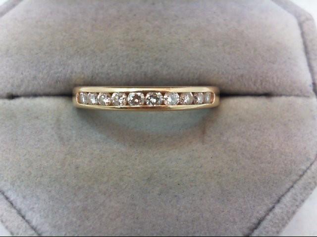 Lady's Diamond Wedding Band 10 Diamonds .30 Carat T.W. 14K Yellow Gold 3g