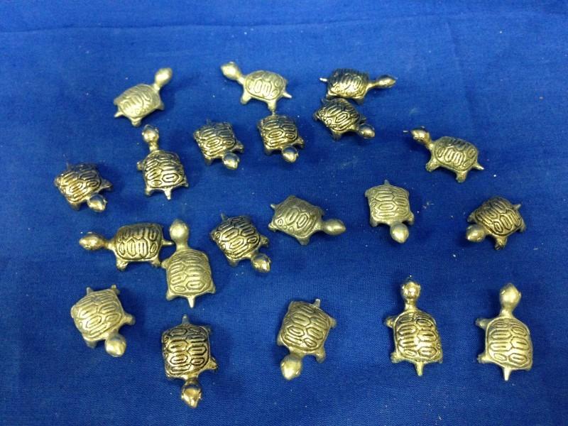 20 TURTLES PEWTER FIGURINES  GEMINI GEMS VINTAGE 1970'S