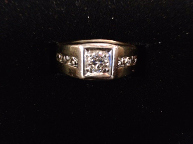 Gent's Diamond Solitaire Ring .25 CT. 14K Yellow Gold 7.9g