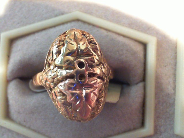 Lady's Gold Ring 10K 2 Tone Gold 2.5g Size:6