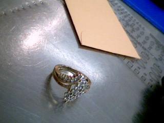 Lady's Diamond Cluster Ring 48 Diamonds .48 Carat T.W. 10K Yellow Gold 4.7g