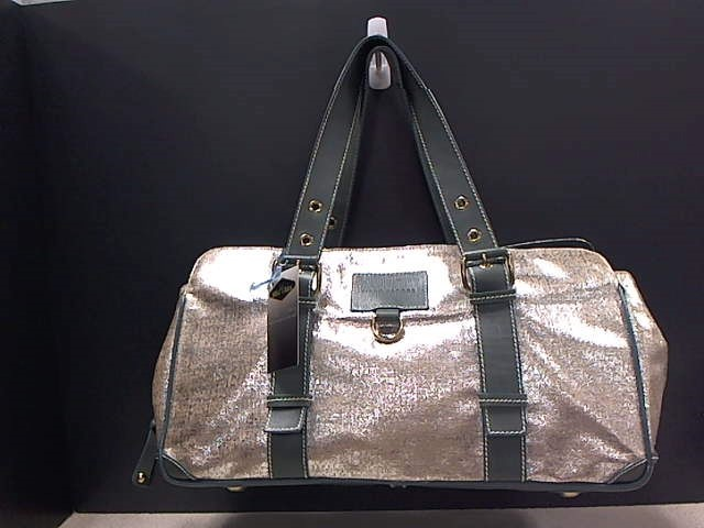 MARC JACOBS METALLIC LEATHER WEEKENDER