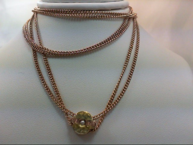 G.F. VINTAGE WATCH CHAIN WITH SEED PEARL 12GMS