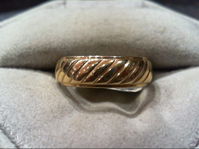 Lady's Gold Wedding Band 14K Yellow Gold 4.5g Size:7.3