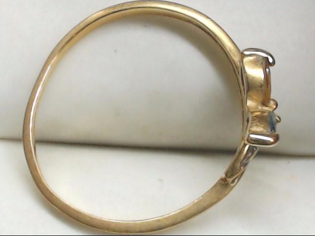 Yellow Stone Lady's Stone Ring 14K Yellow Gold 1.3g Size:6