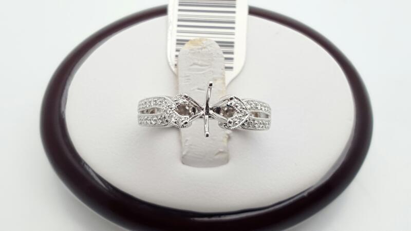 Lady's Diamond Engagement Ring 20 Diamonds .20 Carat T.W. 14K White Gold 4.6g