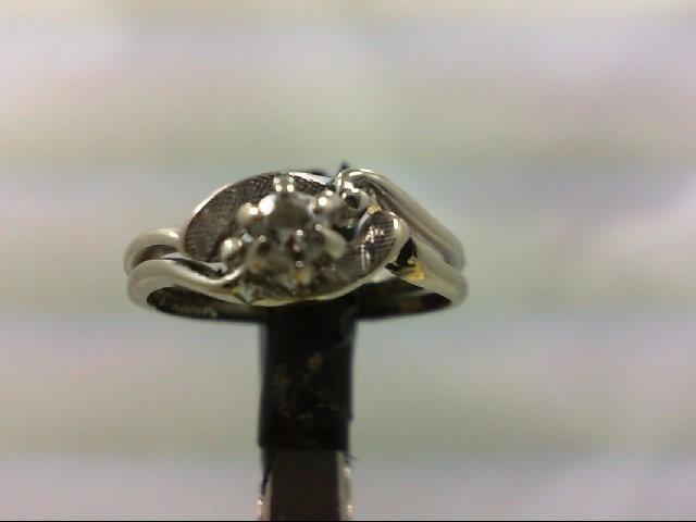 Lady's Diamond Wedding Set .15 CT. 14K White Gold 2.9g