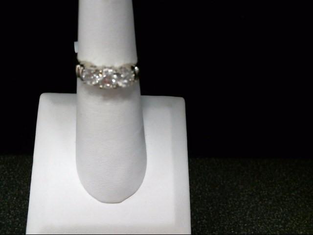 Lady's Diamond Engagement Ring 3 Diamonds .70 Carat T.W. 14K White Gold 4.3g