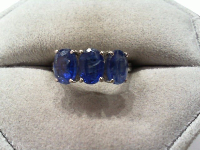 Sapphire Lady's Silver & Stone Ring 925 Silver 2.4g