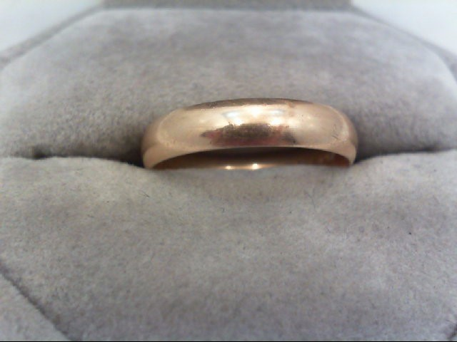 Lady's Gold Wedding Band 14K Yellow Gold 2.8g Size:9