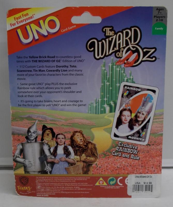 UNO Entertainment Memorabilia CARD GAME CARD GAME