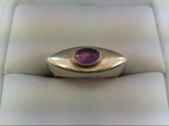 Amethyst Lady's Silver & Stone Ring 925 Silver 5.3g